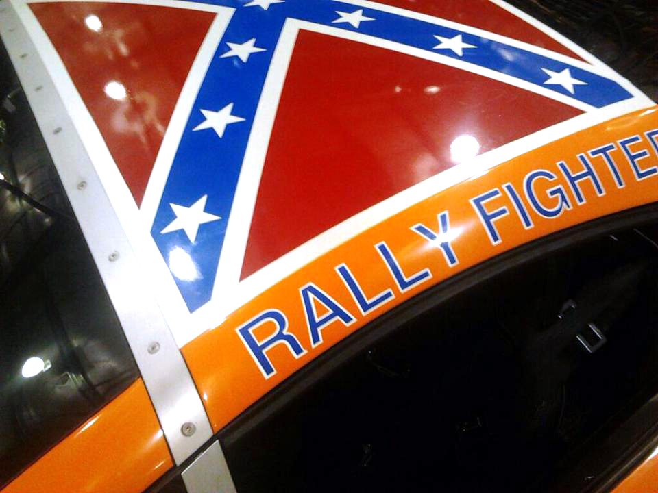 General Lee Roof Flag On A Rally FIghter, Vehicle Wraps Maine