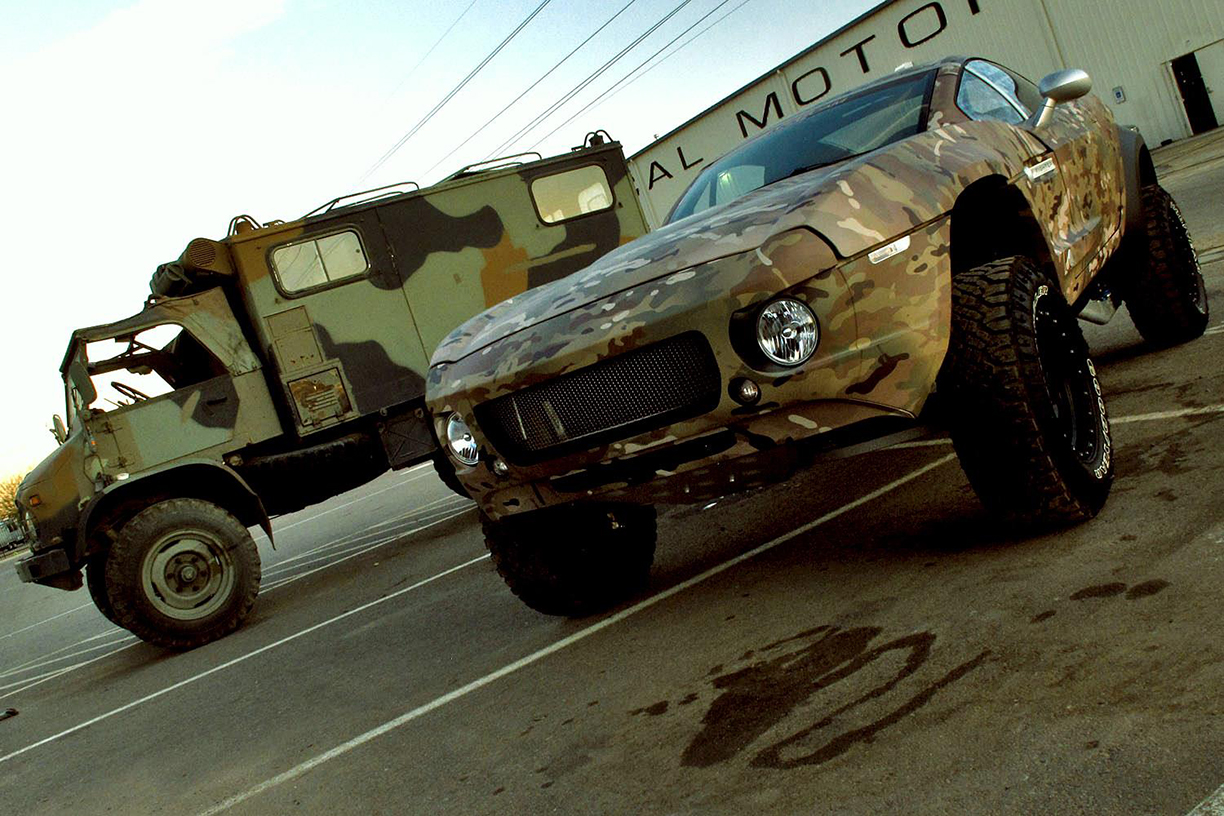 MultiCam with the Unimog, Vehicle Wraps Maine