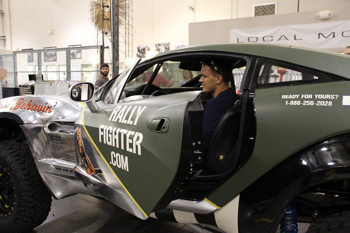 Rally Fighter Miss Behavin, One Very Happy Owner, Vehicle Wraps Maine