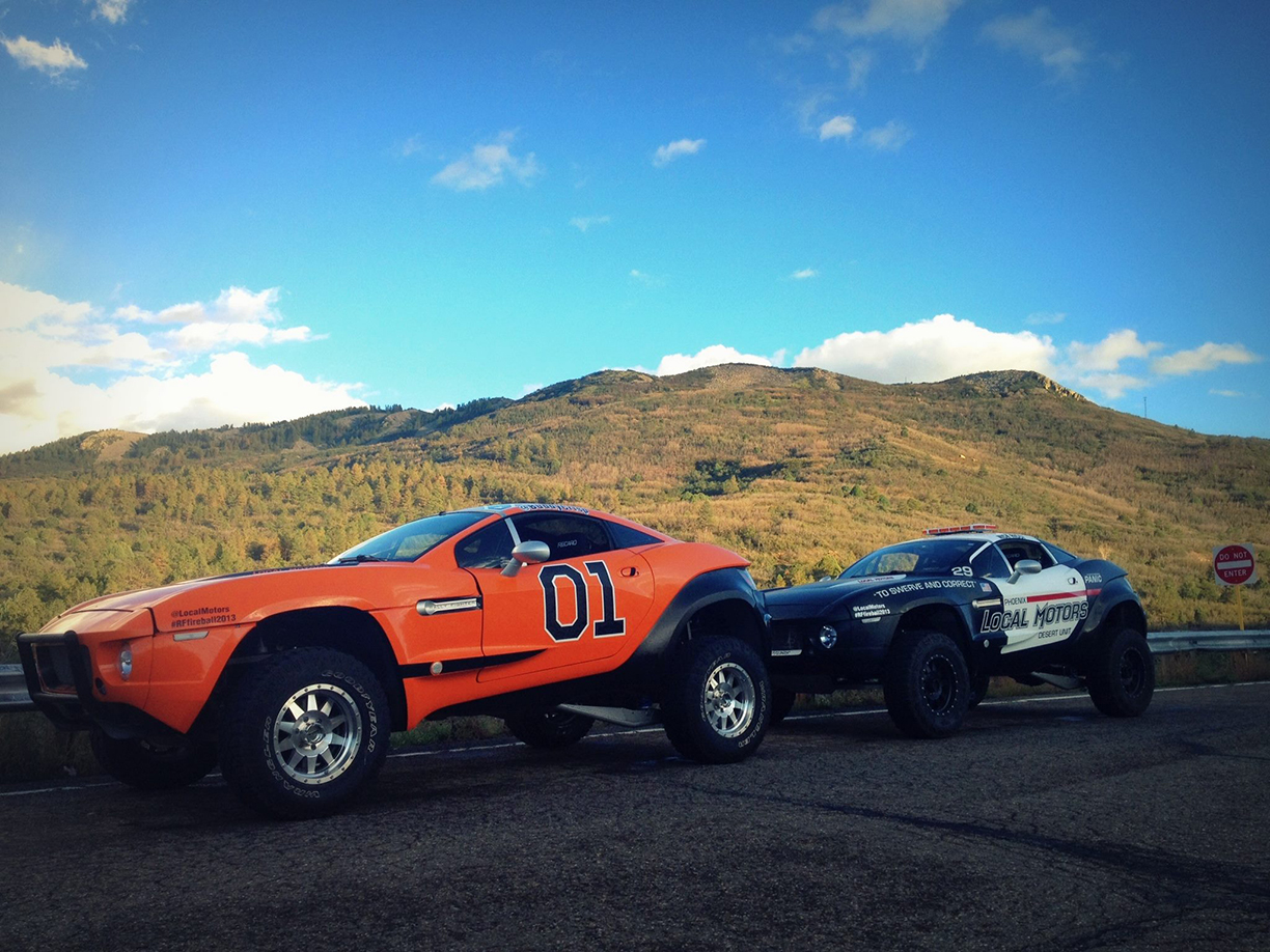 General Lee and Police Car, Vehicle Wraps Maine