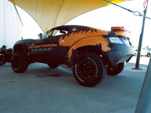 Vehicle Wraps Maxtrax under canopy