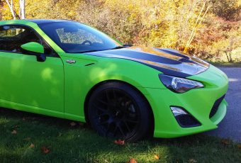 Toxic Green Car