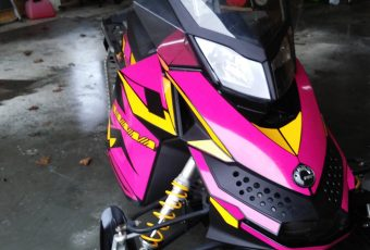 Snowmobile wraps